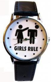 """Часы """"Girls rule """" ― Подарки. Интернет-магазин оригинальных подарков. Необычные подарки - Лавка Радости"""