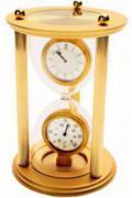 """Часы с термометром """"Песочные часы"""""""