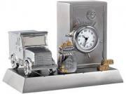 Часы настольные с сейфом и машиной