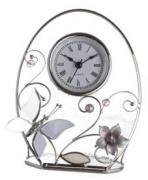 """Часы """"Колокольчики и зеркальная бабочка"""""""