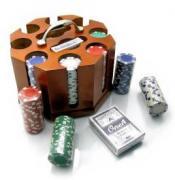Покерный набор в деревянной подставке