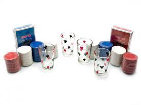 Покерный набор с рюмками  ― Подарки. Интернет-магазин оригинальных подарков. Необычные подарки - Лавка Радости