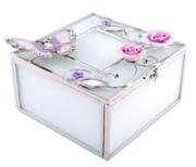"Шкатулка ""Бабочка на чайной розе"" (Франция)"