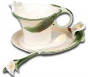"""Чайная чашечка """"Изысканные Каллы"""""""