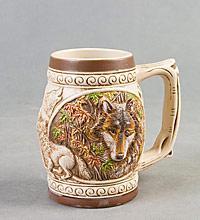 """Пивная кружка """"Волк на охоте"""" ― Подарки. Интернет-магазин оригинальных подарков. Необычные подарки - Лавка Радости"""