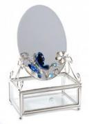 "Шкатулка с зеркалом ""Синяя бабочка"" (Франция)"