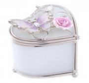 """Шкатулочка """"Бабочка на чайной розе"""" (Франция)"""