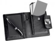 Визитница с блокнотом и ручкой