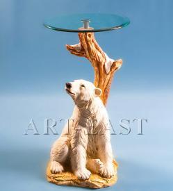 """Журнальный стол """"Белый медведь"""" ― Подарки. Интернет-магазин оригинальных подарков. Необычные подарки - Лавка Радости"""