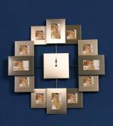 Семейная фоторамка с часами