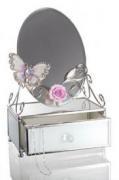 """Шкатулка с зеркалом """"Бабочка на чайной розе"""" (Франция)"""