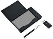 Визитница с флеш-картой на 4 Гб и ручкой