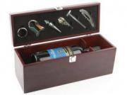 Подарочный набор аксессуаров для вина в футляре для бутылки