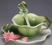 """Чайная чашечка """"Веселые лягушки"""""""
