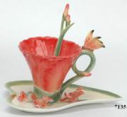 """Чайная чашечка """"Красный Гладиолус"""""""