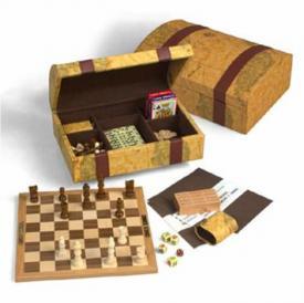 """Настольный набор для игры """"Семь игр в сундуке"""" ― Подарки. Интернет-магазин оригинальных подарков. Необычные подарки - Лавка Радости"""
