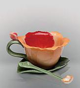 """CMS - 05/ 2 Чайная пара с ложечкой """"Орхидея"""" (Pavone)"""