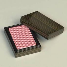 Пластиковые игральные карты в деревянной коробке ― Подарки. Интернет-магазин оригинальных подарков. Необычные подарки - Лавка Радости