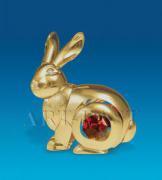 """Фигурка """"Золотистый Кролик""""с цветным кресталом"""