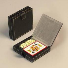 Карты и кости в кожаном кейсе ― Подарки. Интернет-магазин оригинальных подарков. Необычные подарки - Лавка Радости