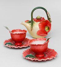 """FM- 40/ 5 Чайный набор """"Маки""""  ― Подарки. Интернет-магазин оригинальных подарков. Необычные подарки - Лавка Радости"""