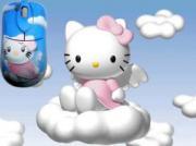 """Компьютерная мышь с ковриком """"Kitty-ангелочек"""""""