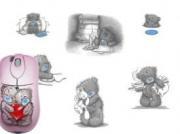 """Компьютерная мышь с ковриком """"Мишки"""""""