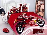 Сатин детский Motorbike(red)
