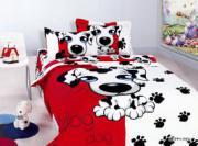 Сатин детский Puppy(red)