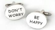"Запонки ""Don't worry. Be happy"""