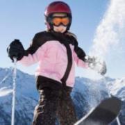 Урок юного горнолыжника
