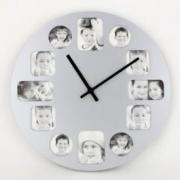 """Часы-фоторамка """"Моя семья"""", серые"""