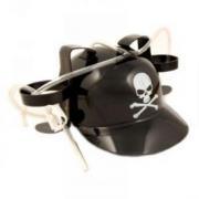 """Каска """"Skull"""" с крепежами для воды, черная"""