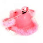 Каска розовая с крепежами для воды