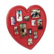 """Фоторамка """"Сердце"""", на 11 фото, красная"""