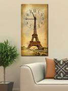 """Настенные часы на холсте """" Париж"""""""