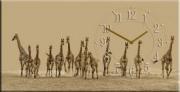 "Настенные часы на холсте "" Жирафы """