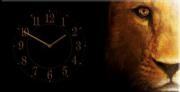 """Настенные часы на холсте """" Отражение """""""