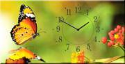 """Настенные часы на холсте """" Бабочка """""""