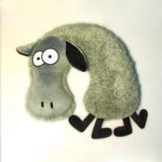 """Подушка-подголовник """"Овца Красавица"""""""