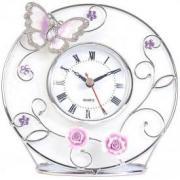 """Часы """"Бабочка на чайной розе"""" (Франция)"""