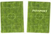 """Обложка на паспорт """"Футбольное поле"""""""